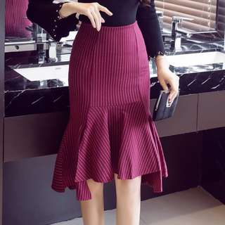 Office Wear Elastic Midi Skirt Women Fashion Bodycon Skirts