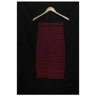Plaid red and black long skirt  * small - medium * used once only