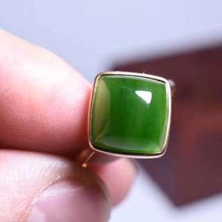 ❇碧玉菱形戒指️❇️