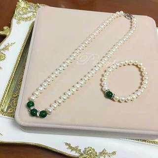 淡水珍珠頸鏈 母親節 🎁精選 珠光漂亮 選用925