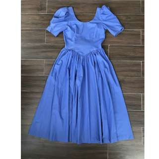 Vintage Laura Ashley blue princess dress
