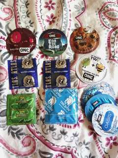 8 condoms and 4 lubricant