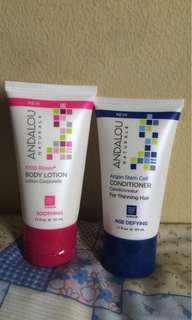Andalou Naturals Conditioner and Lotion