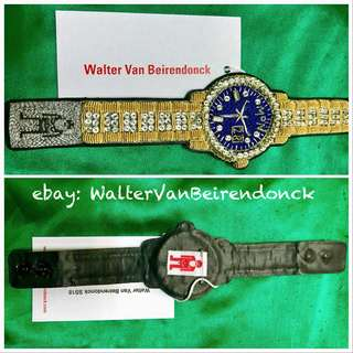 Walter Van Beirendonck: W-Watch Embroidered Bracelet: GOLD+Silver * NEW with tag