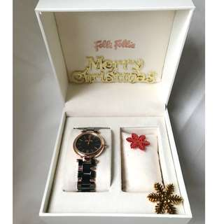 Folli Follie Lady Bubble ceramic + stainless steel rose gold watch 腕錶 (不議價 )