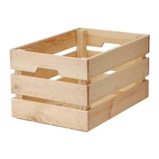 KNAGGLIG crate storage box (IKEA original)