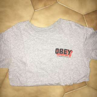 OBEY grey t shirt