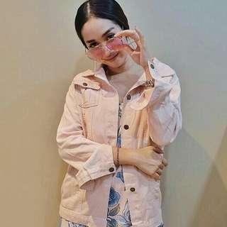 Pink jaket zara
