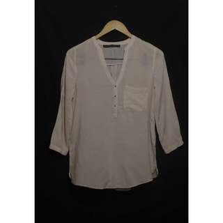 Zara chinese collared top  * small - med  * with small hole but unnoticeable when worn.