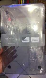 "Macbook air 11""inc Hard case Mika Transparant"