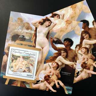 2017 Nude Paintings - Stamp Souvenir Sheet - CA17207b