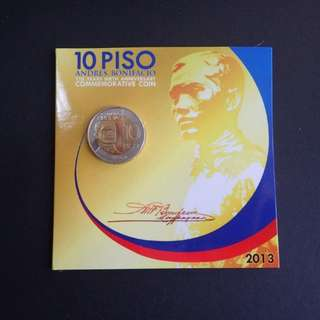 10 Piso Andres Bonifacio 150th Birth Anniversary commemorative coin in blister pack