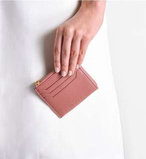 New! 🎉 Charles and Keith casual zip pouch rose
