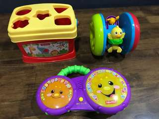 Fisher Price Toys-3 items for RM20
