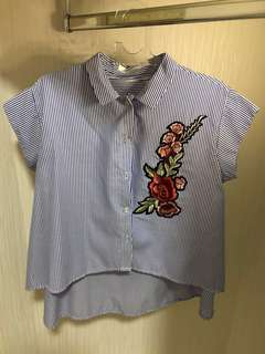 Flower Embro Top
