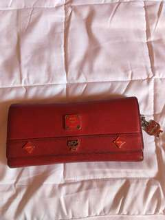 AUTHENTIC MCM WALLET with minor flaws and needs cleaning