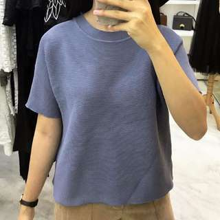 Blue knitte top