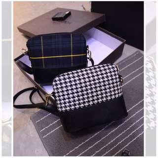 KOREA GRID SLING BAG