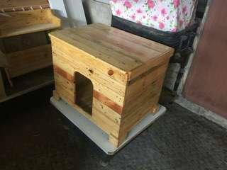 Cat litter box kayu pallet
