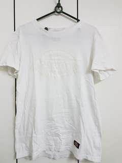 全白dickies Logo短袖上衣