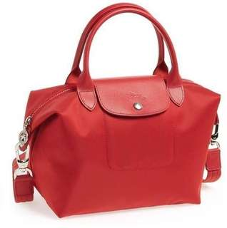 Authentic longchamp Neo small red