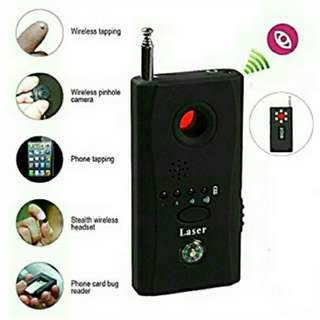 CC308+ Anti-Spy Hidden Camera Laser RF Signal Bug Detector GSM Device Finder - peace of mind, personal safety & security - detect wireless phone tapping, hidden pinhole camera, spy bugs, etc