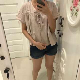 Loose pink blouse