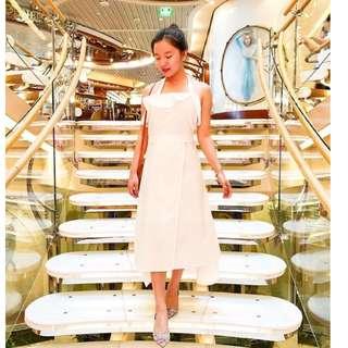 White midi dress (free ongkir)
