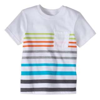 Toddler Boy Short Sleeve Stripe Pocket T-shirt