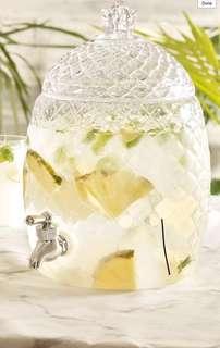 Clear Pineapple water dispenser