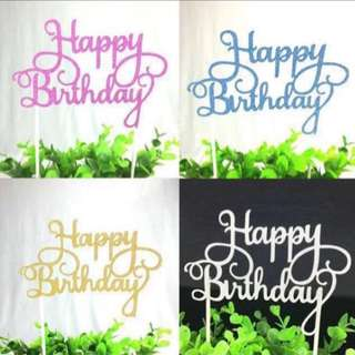 Cake toppers or flower bouquet wordings