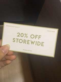 20% book voucher