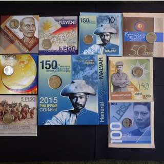9 Blister Pack set of Commemorative Coins (2013-2016)