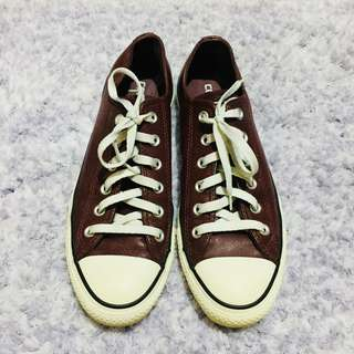 CONVERSE Chuck Taylor All Star Limited Edition Burgundy Ox Heart Leather Low Cut Shoes