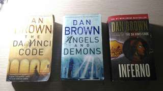 Dan Brown Trilogy Bundle (The Da Vinci Code, Angels and Demons, The Inferno)