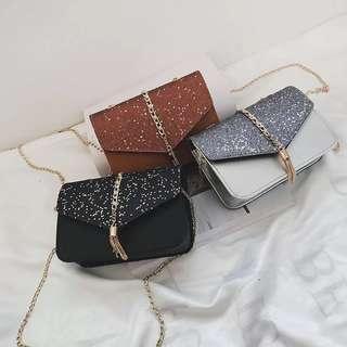 RM18 🎉 Raya Sales Glittery Sling bag #letgo4raya