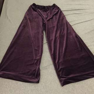 🚚 全新日牌 Urban Research Doors 休閒天鵝絨紫色寬褲