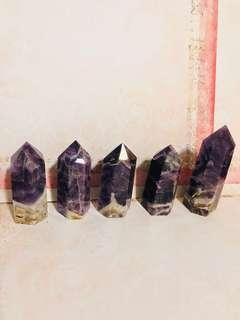 Amethyst crystal obelisk wandpoint healing