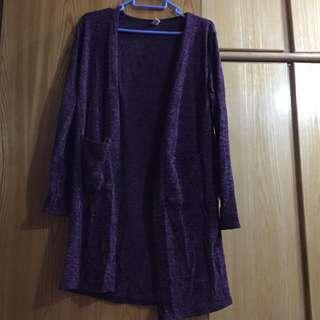 紫色長外套