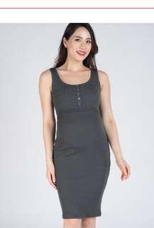 [New] Verita Knitted Bodycon Nursing Dress