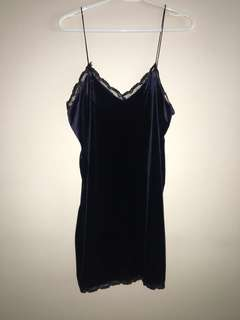Zara Velvet slip dress