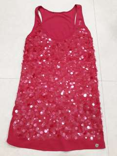📮 FREE DELIVERY 📮 Armani Exchange Women Red Singlet With Sequins (New)