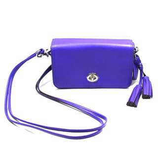 COACH LEGACY LEATHER PENNY SMALL SHOULDER PURSE/ SWING BAG ULTRAVIOLET