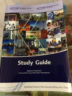 KAPLAN STUDY GUIDE - FOUNDATION GENERAL STUDY + DIPLOMA IN HOSPITALITY & TOURISM (WITH NOTES INSIDE THE BOOK) - Sell individual/ Whole set. *Graduated in March 2018 *