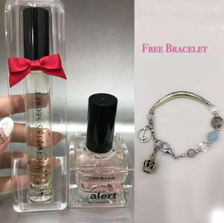 2 Perfumes+Bracelet = RM50 included Postage