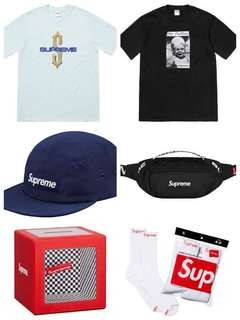 Supreme SS18 Items