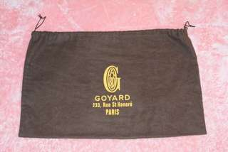 徵收 goyard dust bag 塵袋
