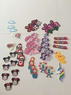 Iron On Patches Disney pac man unicorn pony Russian doll Mickey Minnie Mouse