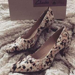 Clarks Floral Camo Heels