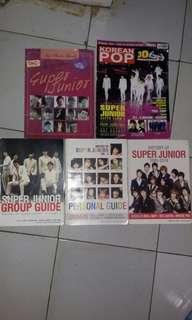 Koleksi majalah, buku sejarah Boyband Korea Super Junior